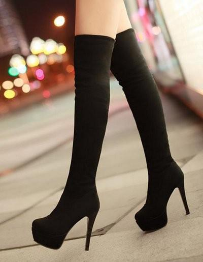 Over Knee Long High Heel Boots Women Snow Fashion Winter Warm Boot ...