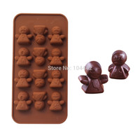 Cheap Hot sale cake mold silicone chocolate mold Angel face doll model high quality Wholesale