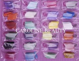 Wholesale 24 Colors French Half Cover Artificial Nails Tips Extension Polish Fake False UV Gel Nails DIY Nail Art Pieces