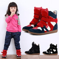 Cheap Wholesale-OP-2014 Autumn Family Girls Shoes Leather Children Sneakers Brand Shoe For Girl Kids Casuals PU High Sneakers For Child Footwear