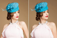 Wholesale 2014 New Designer Woman Berets Flower Feather Wool Girl Evening Party Banquet Hats Wedding Accessories Guest Hats Woman Caps