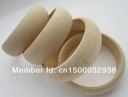Wholesale OP Fashion Europe American unfinished DIY wood bangle cm wood bracelet factory price