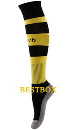 Wholesale New Season Dortmund socks Top Quality New Season Dortmund Home Yellow Soccer Socks football stocking with