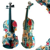 Wholesale 2014 High Quality Handmade Colorful Violin