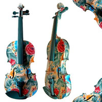Wholesale 2015 High Quality Handmade Colorful Violin