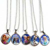 animal necklaces - Vintage Frozen Pendant Necklaces Stainless Steel Long Chains Necklace Beads Jewelry