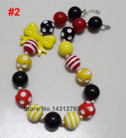 Wholesale DHL Kids Bubblegum Chunky Necklace