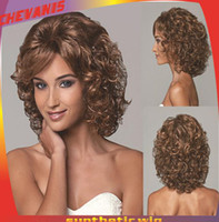Curly Synthetic hair  new Funky Lite Curly Short Wig 5 kinds of styles party celebrity Synthetic Wigs Halloween Carnival Wigs Cheap price nbhjg76t