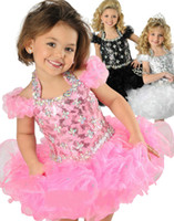 Wholesale 2014 Lovely Blush Halter A line Organza Ruched Cupcake Crystal Beaded Backless Ritzee Girls Pageant Dresses Formal Kids Wear