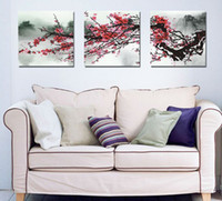 Cheap 3 Piece Free Shipping Hot Sell Modern Wall Painting tree Home Decorative Art Picture Paint on Canvas Prints