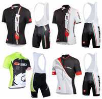 Wholesale New Castelli Sidi Cycling Jersey Collections Outdoor Cheap Bicycle wear short sleeve Bicycle Clothing shirt Bib Pants Bike Wear
