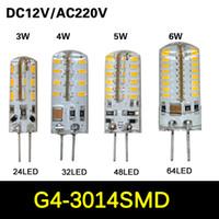 Wholesale 20Pcs SMD G4 W W W W LED Crystal lamp light DC V AC V Silicone Body LED Bulb Chandelier LED LED LED LEDs