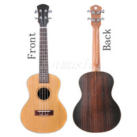 Wholesale NEW Solid Cedar Ukulele Concert Size Laser Engraving Flower Rosewood Brand New