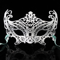 Wholesale Women Men Unisex Adults Metal Mask Prom Masks Glitter Masquerade Venetian Costume Mask Decorated Party Performing Entertainment Iron Mask