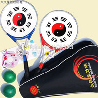 Wholesale Genuine Hot Chinese Wushu Martial Arts Taiji Rouli Ball Sports GL2 Tai Chi Racket Set rackets balls bag Grip Tape SE1