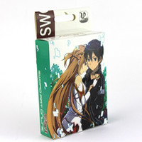 Wholesale Anime Sword art online Poker Playing cards cosplay