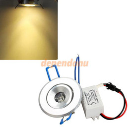 New LED 1W Warm White Ceiling Recessed Down Light Fixture Bulb with Driver