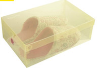 Wholesale Lastest Design Mixed Sale Korean Plastic Transparent Shoebox Clamshell Shoe Storage Box