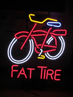 beer kegs - New Fat Tire Neon Sign beer New Belgian bar light Man Cave Keg Pub Brewery party