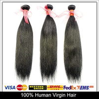 Wholesale Unprocessed Human Hair Weaves A inch Brazilian Hair Weave Straight Malaysian Peruvian Indian Virgin Hair Extensions