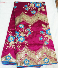 Wholesale george lace fabric NYG03 excellent quality new fashion george lace fabric african george lace yards piece