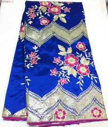 Wholesale george lace NYG03 excellent quality new fashion george lace fabric african george lace yards piece