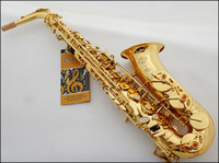 Wholesale FEDEX Senior French brand Salma E flat alto saxophone musical instrument electrophoresis gold professional