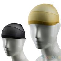 Wholesale NEW Unisex Stocking Wig Liner Cap Snood Nylon Stretch Hairnets Mesh Black Nude Women Men