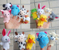 Cheap Children's Puzzle Finger toy animal dolls Hand finger Toy puppet story-telling props 300pcs lot
