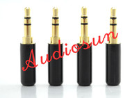 audio ear buds - 2pc DIY mm gold plated headphone plug audio ear bud cable fix repair kit