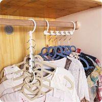 venda por atacado hangers-Space Saver Maravilha Magia cabide organizador do armário gancho Cavalete Multi-Function Roupa Storage Racks