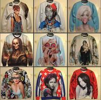 Wholesale New Winter Women Men INC print Galaxy hoodies Sweaters Pullovers Rihanna Marilyn Monroe D Sweatshirt Tops T Shirt