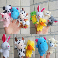 farm animals toys - 10PCS Animal Zoo Farm Finger Puppets Plush Cloth Toys for Baby Bed Story Telling