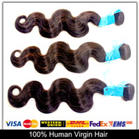 Brazil virgin hair Body Wave AAAAAA 6A Virgin Hair Product Body Wave Brazilian Virgin Hair 1pcs Unprocess Human Hair weave Wavy Can be dyed and bleached