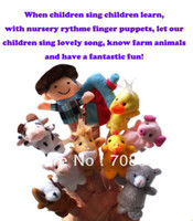Wholesale pack Cartoon Animal Finger Puppet Old Macdonald had a farm story Cartoon marionette puppet funny toy