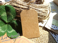merchandise - x5cm Vintage Kraft paper Hang Tags Merchandise Tags Price Tags GIFT TAG