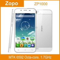 Cheap Wholesale - ZOPO ZP1000 White, GPS AGPS, Android 4.2, MTK6592 Octa Core, RAM: 1GB, ROM: 16GB, 5.0 inch HD Capacitive Screen Smart Phone--fr