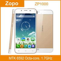 Cheap Wholesale - ZOPO ZP1000 Ultrathin 3G Phablet 5.0 inch HD Android 4.2 MTK6592 1.7GHz Octa Core RAM 1GB ROM 16GB Smart Cell Phone--free shippi