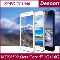 """Cheap Wholesale - Free Shipping! ZOPO ZP1000 MTK6592 Octa Core 1.7GHZ Cell phones 5"""" IPS Ultra Thin 5mp14mp Camera android 4.2 Dual sim OTG Koccis"""