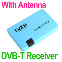 Cheap Digital TV Box LCD VGA AV Tuner DVB-T FreeView Receiver with Remote Controller New Arrival Hot Sale