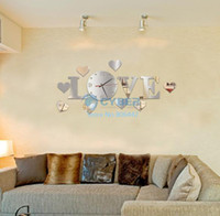 Wholesale Home Decoration Mirror Effect Ring Wall Clock Modern Design D Interior Decoration Living Room Wall Clock SV006061