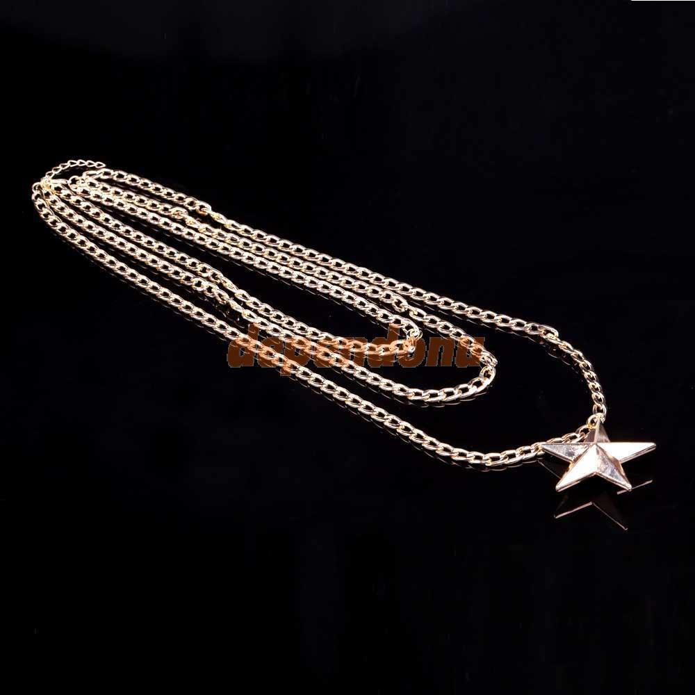 Gold Plated Long Necklace Online Star Long Necklace Online