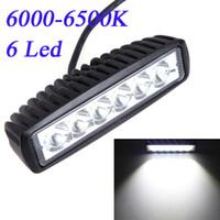 Cheap car 18W Spot Beam LED Camping Light Work Light Lamp Strip Light for Jeep SUV ATV Off-road Truck Universal Vehicle Bulbs 6000-6500K