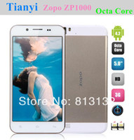 """Cheap Wholesale - Original ZOPO ZP1000 5"""" IPS Octa Core Mtk6592 Cellular phone 1GB RAM+16GB ROM 5MP+14MP Camera 1.7GHZ CPU android 4.2 OTG--free s"""