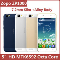 Cheap Wholesale - Original Zopo ZP1000 5 Inch HD IPS MTK6592 Octa Core 1GB 16GB Android 4.2 Smart Mobile Cell Phone 7.2mm Slim GPS BT--free shippi