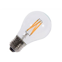 Wholesale 4W E27 LED Filament Bulb AC V Warm White LED Glass Bulb lm Filament LED Lamp Replace Incandescent Lamp