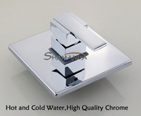 Wholesale Bathroom In Wall Faucet Bath and Shower Mixer Solid Brass Chrome Single Function Actuated In Wall Valve