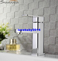 Ceramic Plate Spool Yes SHAMANDA Free Shipping Modern Bathroom Products Chrome Finished Hot and Cold Water Basin Faucet Mixer,Sinlge Handle Tap-Wholesale-1213