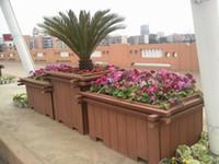 Wholesale Wood plastic flower pot
