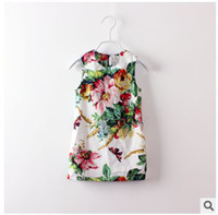 classical painting - 2014 Girls Latest Style Ink Painting Sleeveless Dress Childrens Hot Sale Fashion Classical Sundress